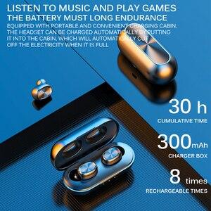 Image 2 - B5 tws 무선 이어폰 스테레오 블루투스 이어폰 무선 이어폰 블루투스 5.0 마이크 터치 음악 전화 헤드셋