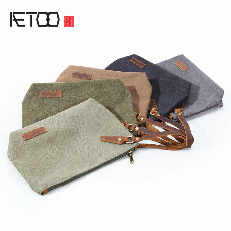 AETOO Travel Trip Portable canvas bag large capacity male and female fitness bag bath pocket storage Bag