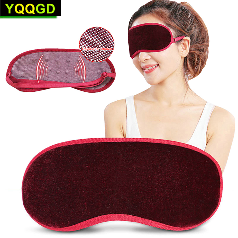 1Pcs Eye Care Tourmaline Far Infrared Ray Eye Massager Pain Fatigue Relief Deep Sleep Eye Mask  Magnetic Eye Blindfold Cover