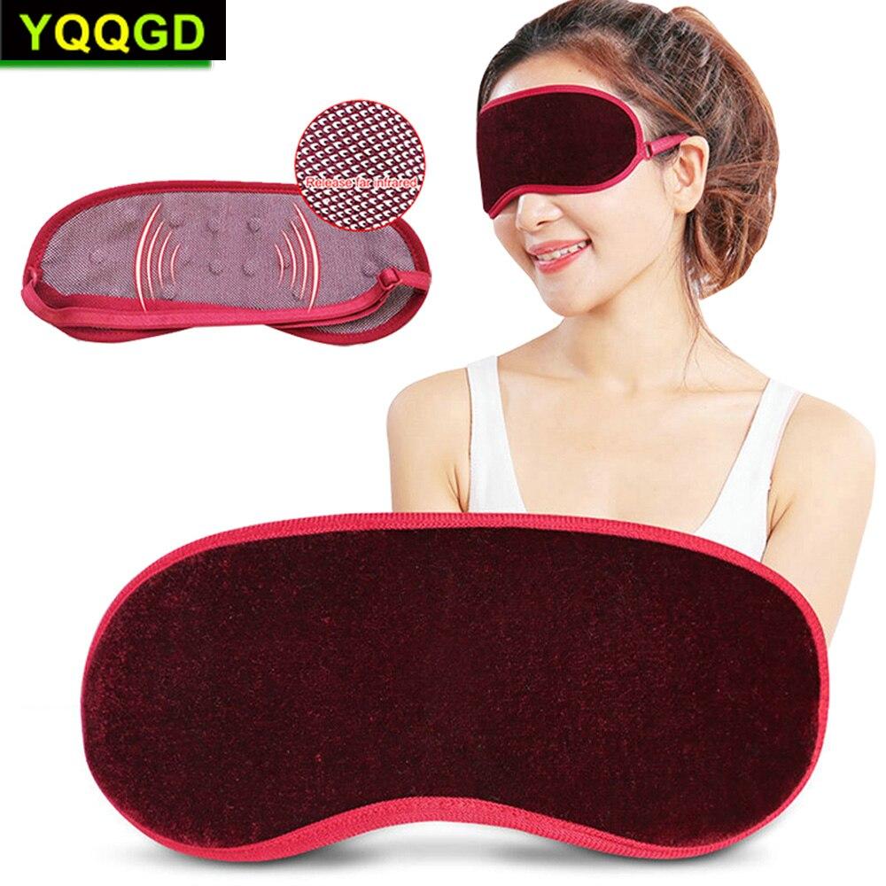1Pcs Eye Care Tourmaline Far Infrared Ray Eye Massager Pain Fatigue Relief Deep Sleep Eye Mask  Magnetic Eye Blindfold Cover