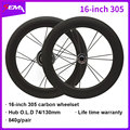 Carbon wiel SEMA 16inch 305 carbon wielset 74/130mm voor vouwfiets Amerikaanse Eagl hub Levenslange Garantie promotie wiel