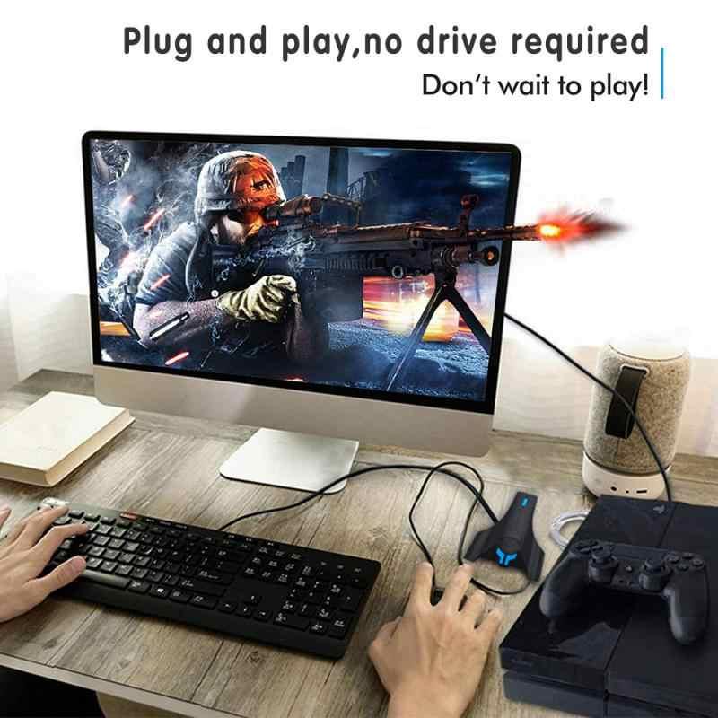 Gamepad para ps4 para xbox controlador conversor teclado mouse adaptador lidar com o botão personalizado para nintendo switch ps3 pc