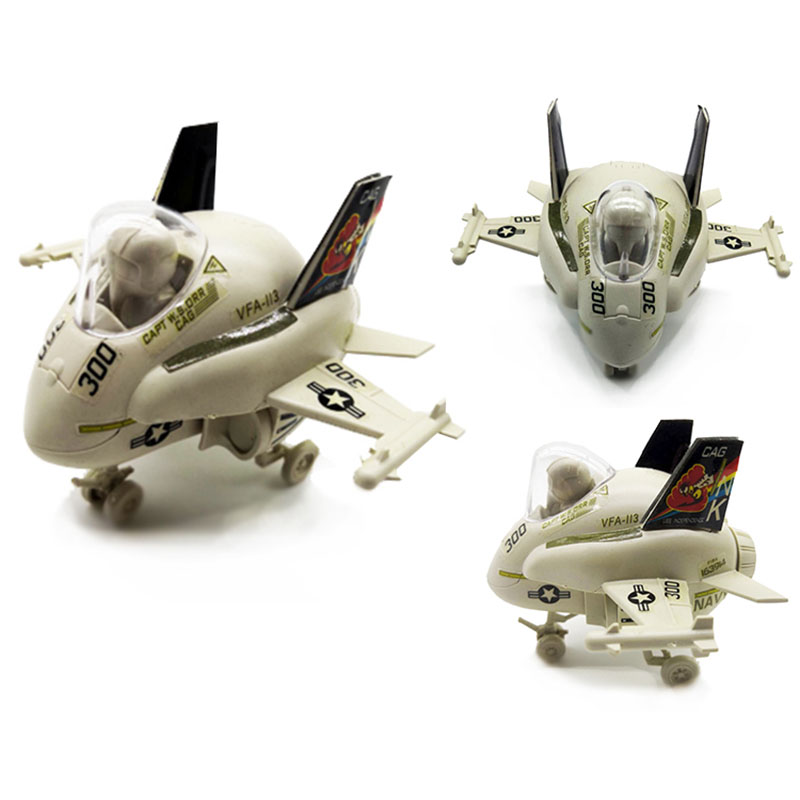 1pcs Q Version 4D Plastic Assemble Airplane Fighter F18 9cm Cute Small Helicopter Toy For Children