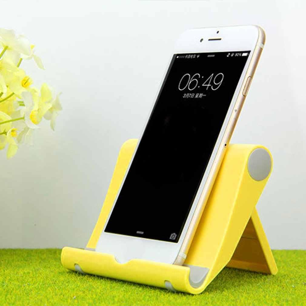 العالمي طاولة قابلة للطي حامل هاتف الخليوي حامل سطح العمل آيفون 8 7 6 Plus اللوحي حامل هاتف دعم لجميع الهواتف المحمولة