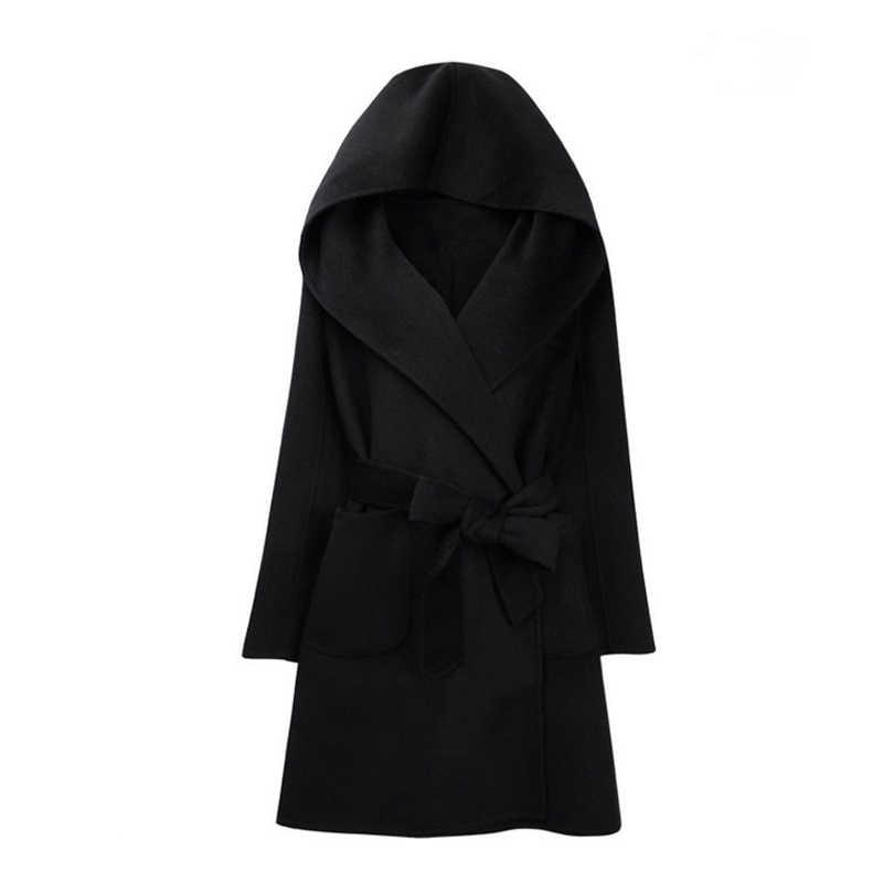 2019 корейское женское кашемировое пальто, Женский Осенний длинный тонкий кардиган, специально для женщин, зимнее длинное пальто, толстое теплое Женское пальто