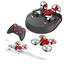 2.4G RC Drone 3 in 1 Quadcopter Glider Airship Airplane Hovercraft RC Multi-func