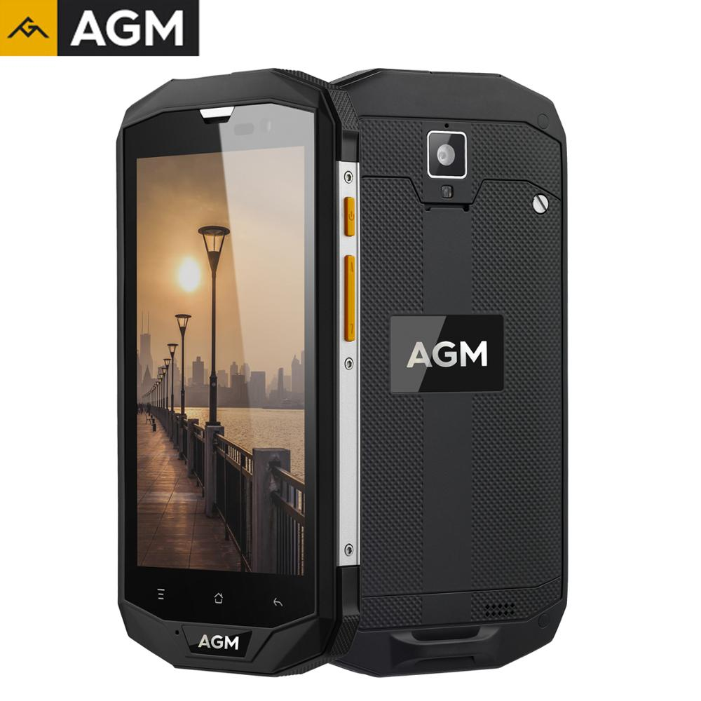 NEW AGM Original A8 5 Inch 4G+64G NFC OTG Smartphone Android 7.1 Mobile Phone 2SIM IP68 Rugged Phone Quad Core 13.0MP 4050mAh