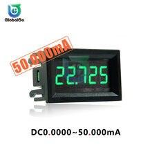 Amperímetro Digital de CC de alta precisión para coche, Detector de medidor de corriente de 5 dígitos, 4 cables, 0,56 pulgadas, 50ma