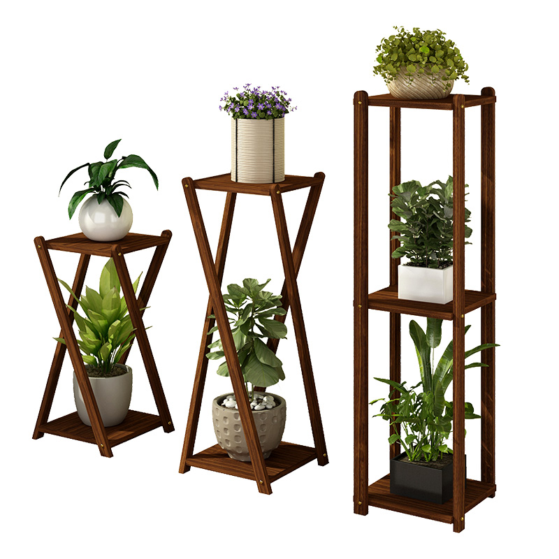 Solid Wood Flower Shelf Multi-storey Indoor Special Living Room Floor Balcony Storage Shelf Frame Hanging Orchid Home Floor