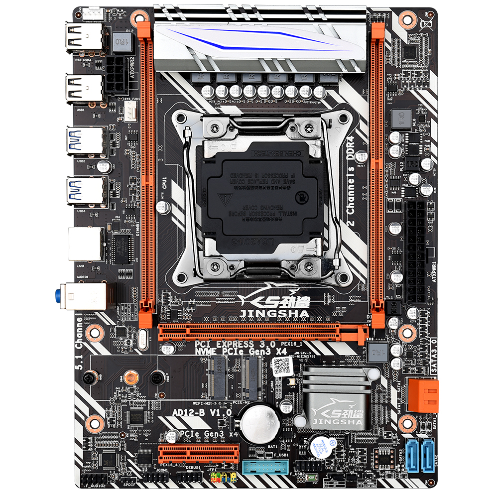 Jingsha X99 D4 M-ATX Desktop Motherboard LGA 2011-v3 E5 V3 CPU DDR4 RAM Supports E5 2680V3 4620V3 2506V3 2680 V3