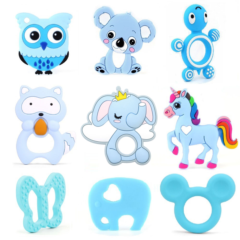 UK Baby Silicone Unicorn Cute Teething SafeTeething Candy Wrapper Soft Teether