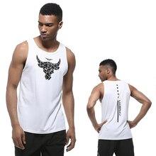 men T shirt sports tank dry fit running sleeveless fitness tops quick basketball mens sportswear summer tanks