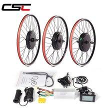Набор для преобразования электрического велосипеда 48V 1000W Ступица колеса передний задний комплект для велосипеда 20 24 26 27,5 28 29 inch 700C колеса дл...