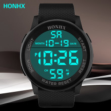 HONHX Men's Digital Watch Multifunction Large Screen Electro