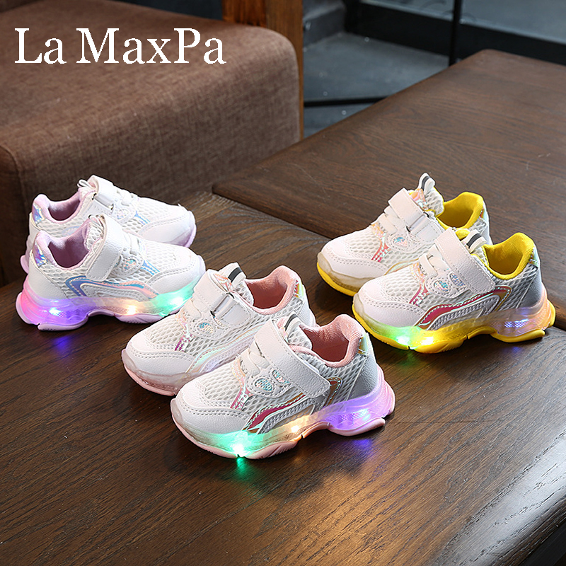 Children Boys Breathable Soft Bottom Sneakers Kids Girls Sports Trainers Shoes