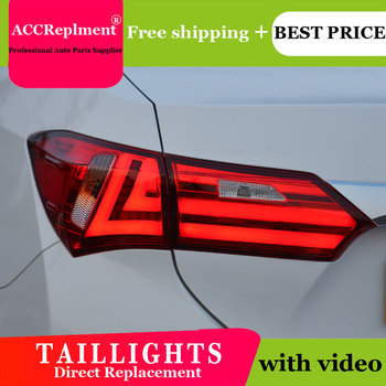 4PCS Car Styling for Toyota new Corolla Taillights 2014-2015 for  New Corolla LED Tail Lamp+Turn Signal+Brake+Reverse LED light