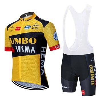 цена на 2020 new JUMBO VISMA cycling TEAM jersey 20D bike shorts suit Ropa Ciclismo mens summer PRO bicycle Maillot Pants clothing