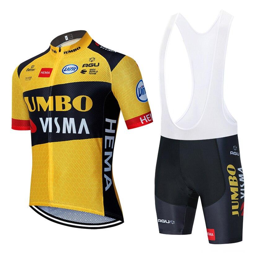 2020 nowy JUMBO VISMA koszulka kolarska 20D spodenki rowerowe garnitur Ropa Ciclismo mężczyzna lato PRO strój kolarski spodnie odzież