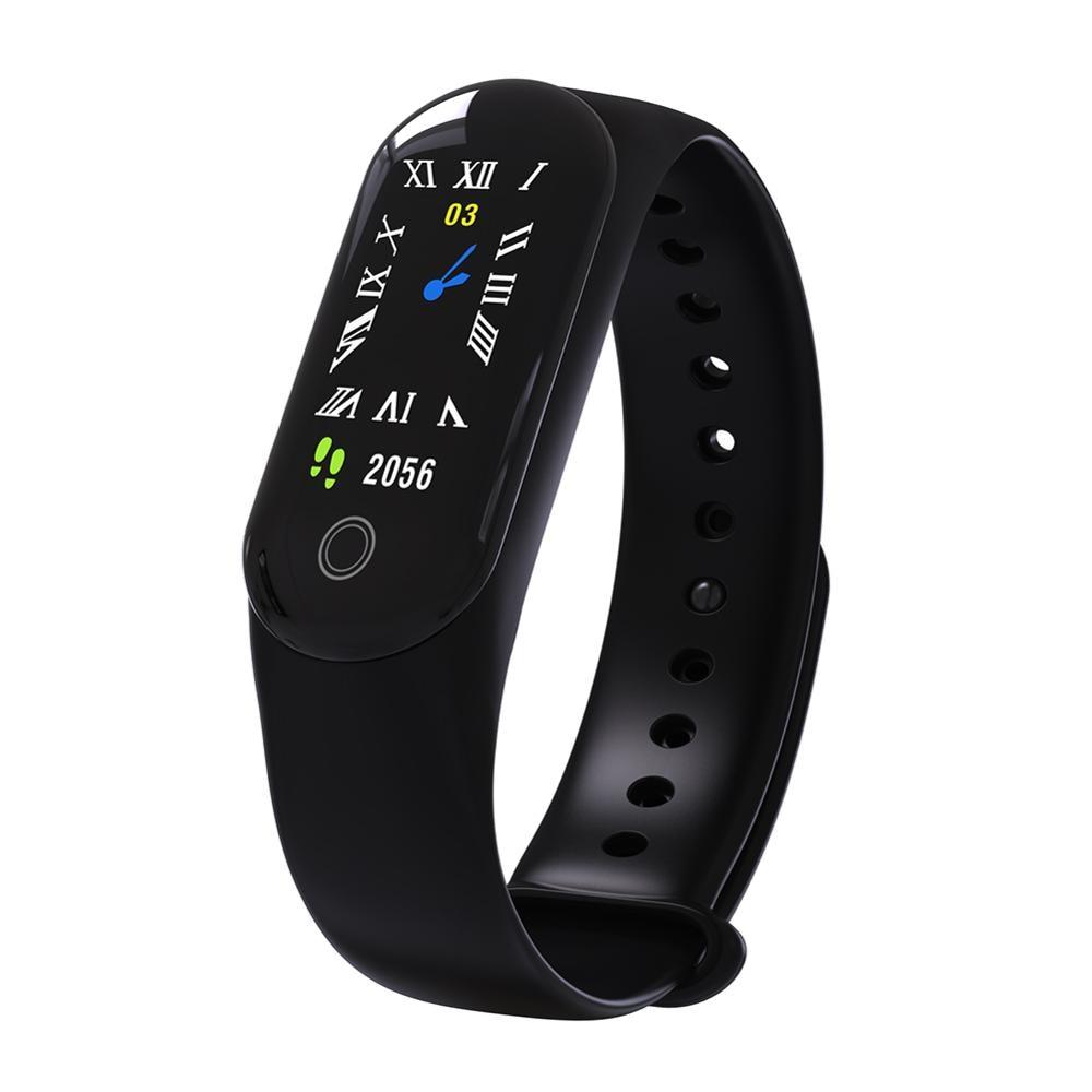 Умный Браслет M30, цветной экран, пульсометр, кровяное давление, мульти-таблетки, водонепроницаемый фитнес-трекер для Android iOS, браслет