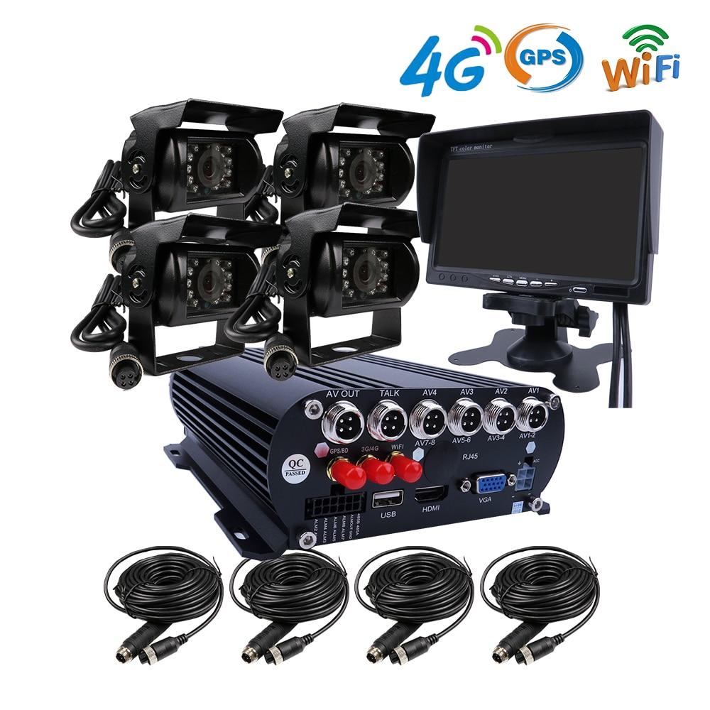 Caméra latérale arrière pour camion | GPS 4CH GPS 4G WIFI 1080P 3 to HDD, véhicule Mobile DVR système d'enregistrement vidéo, SONY IP69, caméra avant pour camion Bus RV