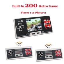 Console di gioco portatile portatile integrata in 8 Bit 200 supporto per videogiochi classico doppio joystick wireless Console retrò da 2.8 pollici