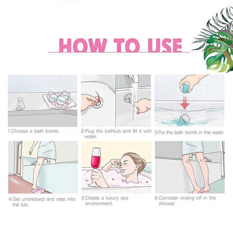 5шт 5г маленький ванна бомба тело стресс облегчение пузырь мяч увлажнение душ очиститель ручной работы спа стресс снятие соль ванна бомбы