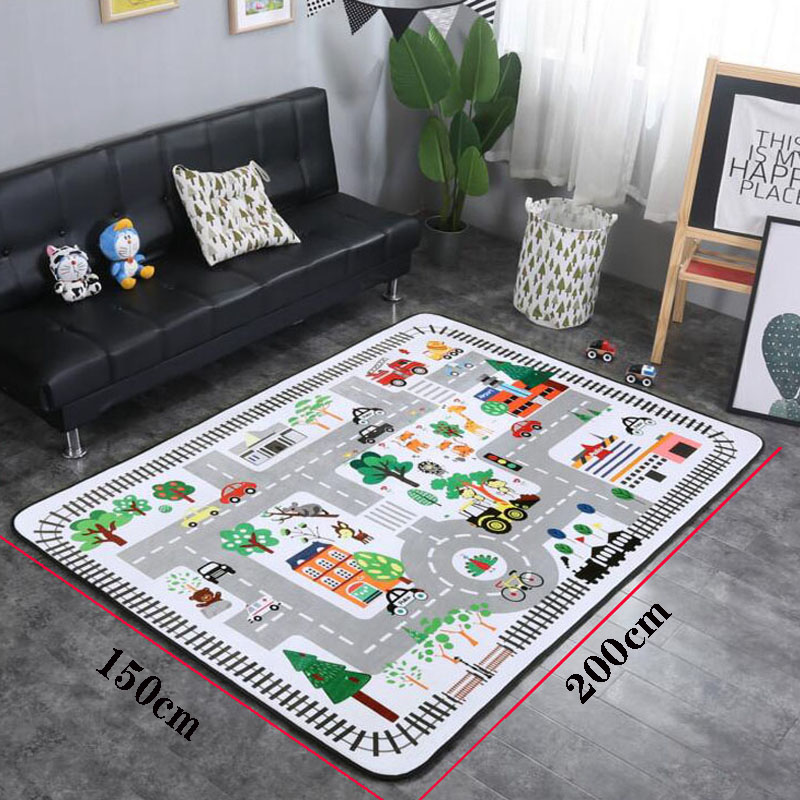 Cartoon Baby Crawling Mat Living Room Bedroom Decoration Mat Yoga Picnic Climbing Mat Carpet Parent-Child Interactive Toy Mat