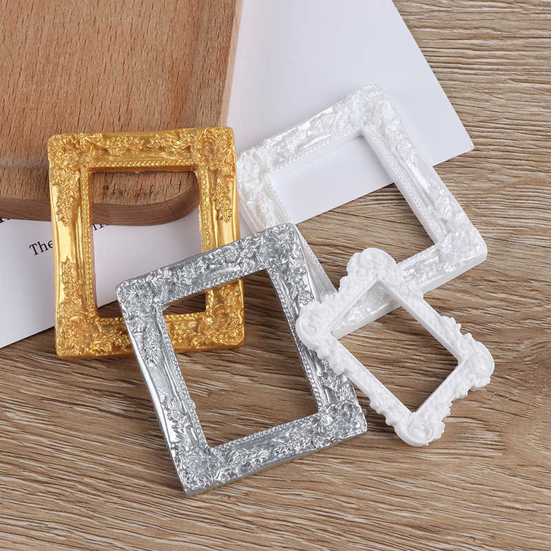 1/12 doll house Miniature Accessories Resin Photo Frame Simulation Furniture Model Toy For Children Doll House Decoration