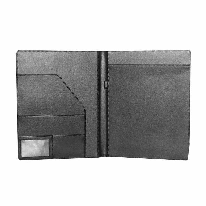 A4 Clipboard Folder Fold-Over Office Document Holder Filing Clip Board Black For School Office Supply