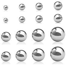 Billes de roulement lisses en acier inoxydable 304, diamètre 0.5mm, 1mm à 10mm, haute précision
