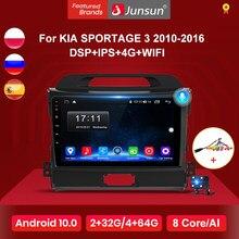 Junsun V1 2G + 32G Android 10 DSP Radio samochodowe multimedialny odtwarzacz wideo nawigacja GPS 2 din dla KIA Sportage 3 2010 2011-2016 brak dvd