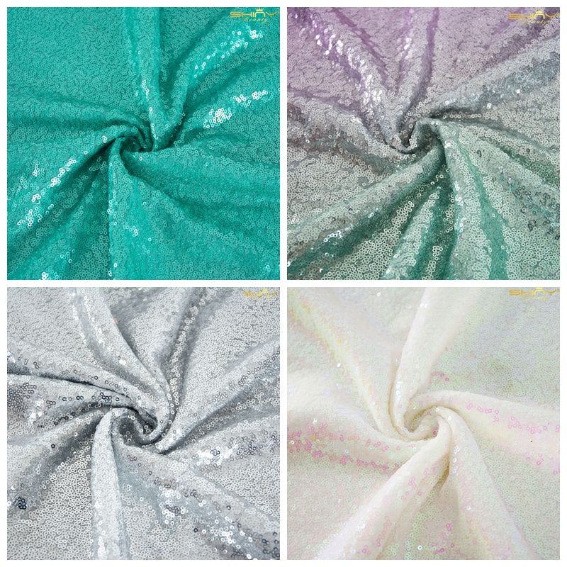 5 Yards Sequin Fabric Backdrop Sequin Fabric Handmade Materials Home Textile For Sewing-M191010