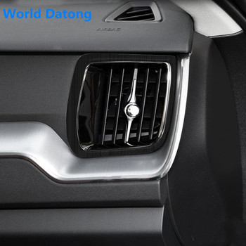 Intérieur Central instrument côté climatisation sortie cadre décoratif en acier inoxydable garniture pour VOLVO XC60 2018 2019 2020
