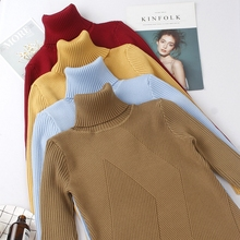 VZFF High Quality Autumn Winter Warm Women Sweater Thick Turtleneck Pullover Fashion Rib Knitted Female Jumper Top