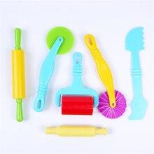 6 шт., развивающие игрушки для поставки слаймов, набор, пластиковое моделирование формы, глиняные игрушки для детей, пластиковые игровые инструменты, набор, Детские DIY формы