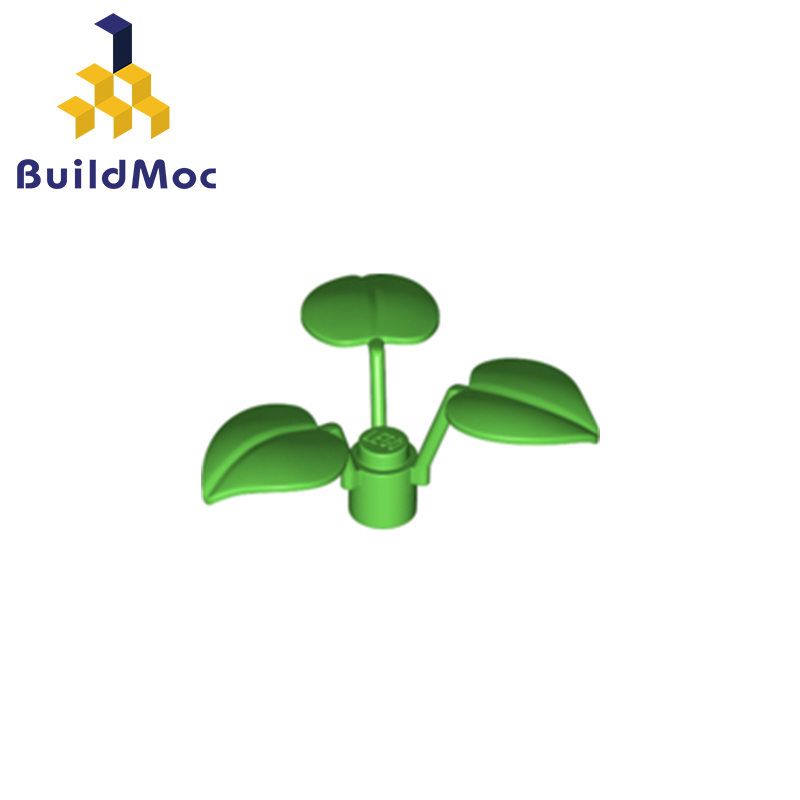 BuildMOC Compatible Assembles Particles 6255 Broadleaf Clover-lucky Grass Building Blocks Parts DIY LOGO Educational Gift Toys