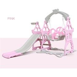 2020 Детское кресло-качалка 3 в 1, комбинированная горка для баскетбола, Детская мини-площадка для помещений, многофункциональная горка, набор,