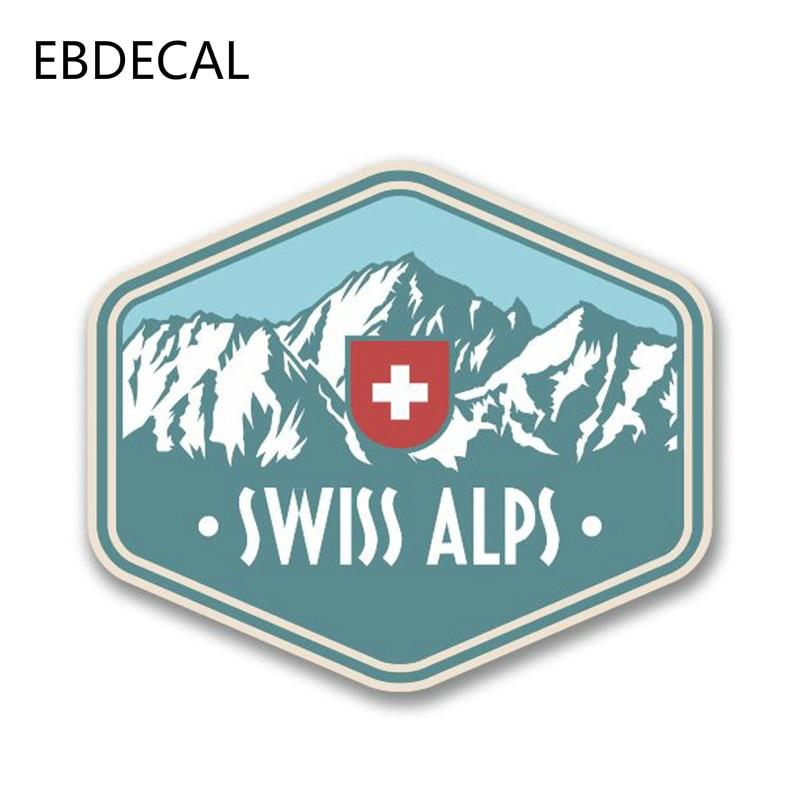 EBdecal Swiss Alps Switzerland VinylFor Auto Car/Bumper/Window/Wall Decal Sticker Decals DIY Decor CT6490