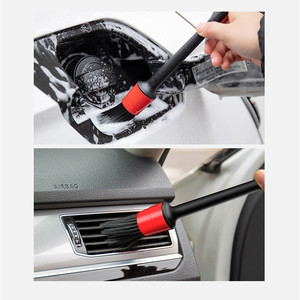 Image 5 - 5個ディテールブラシ洗車ブラシ洗濯ため車内清掃ホイールギャップリムダッシュボードサイドフードエアベントトリムディテールツール