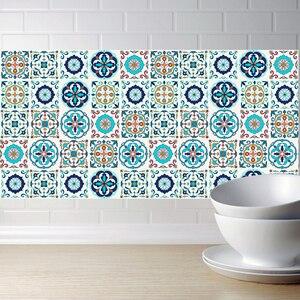 Самоклеящаяся марокканская плитка настенная наклейка ПВХ маслостойкая водонепроницаемая для дома гостиной спальни кухни ванной комнаты 20...