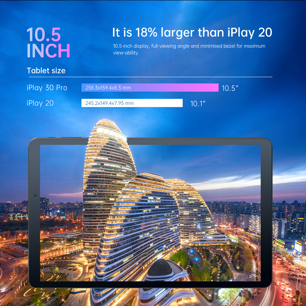 ALLDOCUBE iPlay30 Pro 10.5 inch Tablet android 10 Octa Core 6GB RAM 128GB ROM Dual Sim Cards Phone Calling Tablet PC 1920*1200 5