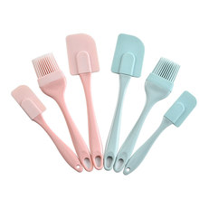 DIY Bread Cake Butter Spatula Mixer Kitchen Baking Tool Oil Brush Cream Scraper Cake Spatula Baking Tools Silicone/PP Non-stick