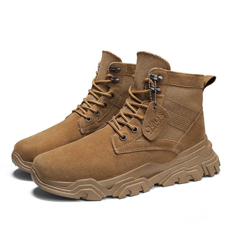 Botas tácticas botas militares de invierno para el desierto zapatos de lona para hombre para exterior transpirables botas de caza