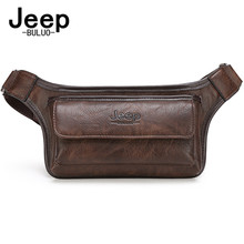JEEPBULUO Men Waist Bag Pack Casual Functional Money Phone Belt Bag Male unisex  Sling Bag for Belt Leather Hip Bag Chest
