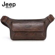 Jeebuluo sac de ceinture pour hommes, sacoche décontracté fonctionnelle argent téléphone, unisexe, sacoche pour ceinture en cuir, sacoche de hanche de poitrine