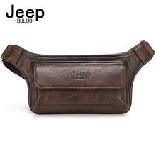 Jeepbuluo homens cintura saco pacote casual funcional dinheiro telefone cinto masculino unisex sling saco para cinto de couro hip saco peito