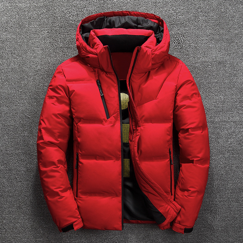 High Quality   Down   Jacket Men's Winter Thick Warm White Duck   Down   Snow   Coat   Hooded Natural Fur Collar Men's Waterproof   Down     Coat
