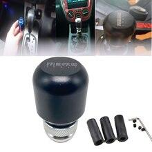 Momo botão universal de alavanca de câmbio, alavanca de câmbio de alumínio para carro jdm