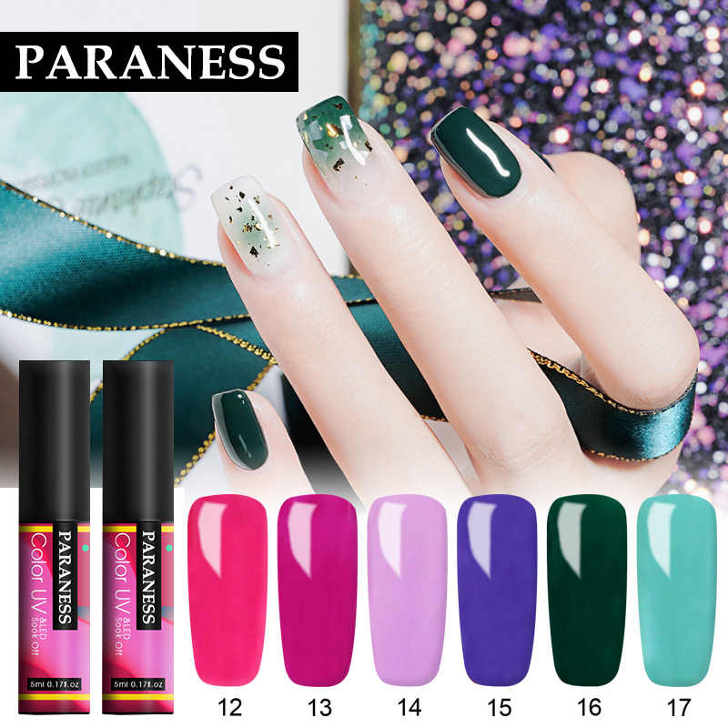 Paraness Nail Gel Vernis Semi Permanent Gel Polish All for Manicure Top Coat UV Gel Varnish Soak Off Nails Art Gel Nail Polish