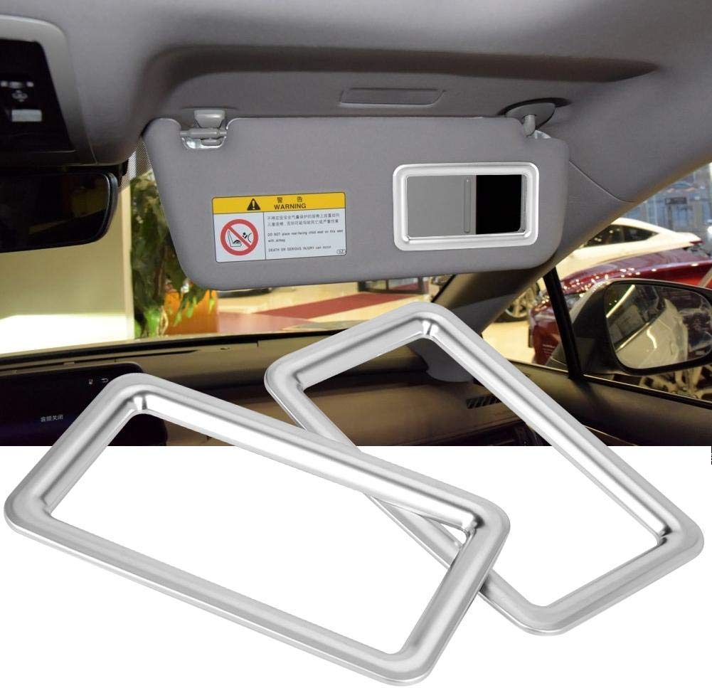 Makeup Mirror Frame Universal For <font><b>Lexus</b></font> <font><b>RX200t</b></font> 450h 2016 Car Styling ABS Chrome Makeup Mirror Frame Trim Stickers New image